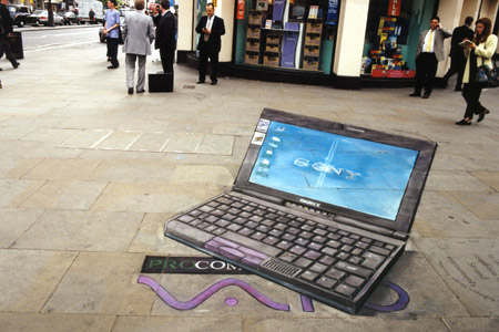 Julian Beever - laptop